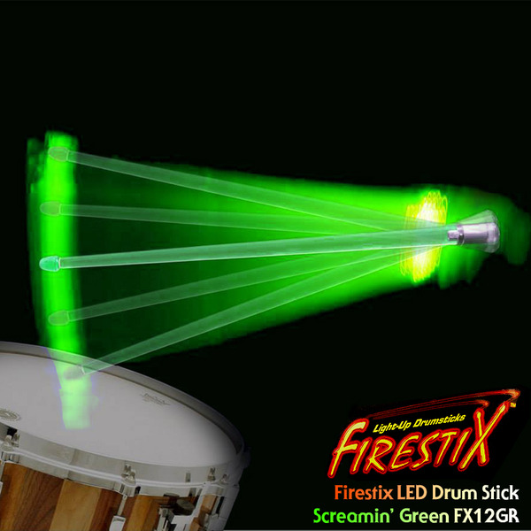 TrophyMusic Firestix 트로피뮤직 LED 드럼스틱(FX12GR)